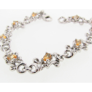 Honey Topaz Swirl Bracelet, Sterling Silver