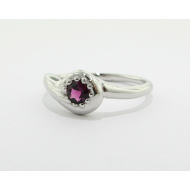 New Fern Ring, Pink Tourmaline