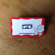 "Love Crew Pin - Blue (Size 1"")"