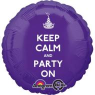 Foil Balloon - Keep Calm and Party On - 18""