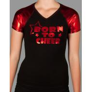 T-shirt - Rouge/Noir Born To Cheer