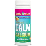 Natural Vitality Calm Plus Calcium Raspberry/Lemon 8oz