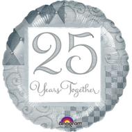Foil Balloon  -Silver 25 Years Together - 18""