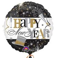 Foil Balloon-Happy New Year 18""