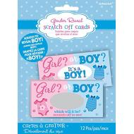 Baby Shower - Gender Reveal - Scratch Card - BOY - 12pcs