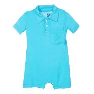 Confetti Solid Polo Romper w/ Pocket