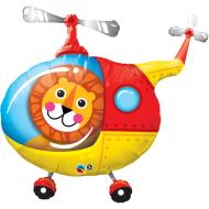 Foil Balloon - Lion in Helicopter - 35""