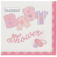 Napkins-BEV-Baby Pink Stitching-16pk-2ply - Discontinued