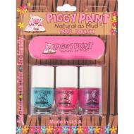 Piggy Paint Nail Polish 3 pack with Nail File