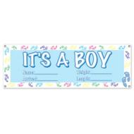 Sign Banner-Plastic-It's a Boy-1pkg