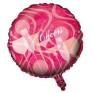 Foil Balloon - Pink Cheers Glasses - 18""