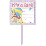 Yard Sign-ITs A Girl-14'' x 25''