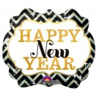 Foil Balloon-Happy New Year SuperShape 25""