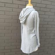 Henley Hoodie Sweater Heather Grey