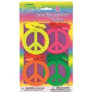 Necklace-Peace Sign-4pk