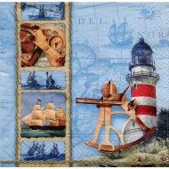 Napkins-LN-Nautical Science-20pkg-3ply (Discontinued)