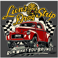 Lions Run What You Brung 2 T-Shirt - Dark Gray