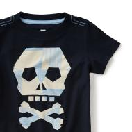 Capuchin Crypt Skull Graphic Tee Blue