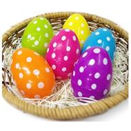 Plastic Polka Dot Easter Eggs