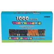 Frilled Toothpicks- Assorted Colours- 1000Pk/2.5""