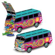 Centerpiece-Fillable-Groovy 60's Bus-1pkg-9.75''