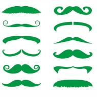 Tattoos-St Patrick's Day Green Mustache