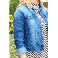 Plus Denim Jacket Stretch J30488