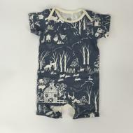 Farm Next Door Summer Romper Slate Grey