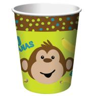 Paper Cups-Monkeyin Around-8pkg-9oz
