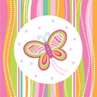 Napkins-LN-Mod Butterfly-16pkg-3ply - Discontinued