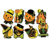 Vintage Halloween Cutouts, 4/pkg-8 Designs