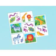 Tattoos-Jungle Animals-16pk
