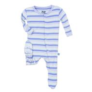 Girl Tropical Stripe Footie