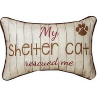 My Shelter Cat Rescued Me Pillow