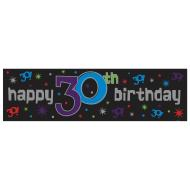 Banner-30th-Plastic-65'' x 20''