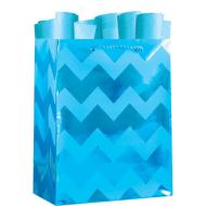 Blue Chevron Tote Bag-Medium