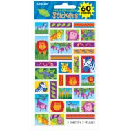 Stickers-Jungle Animals-60pk