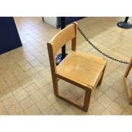 Wood sled based chair