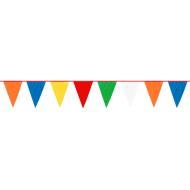 Pennant Banner- Mutli Color-Plastic-120' x 18''