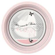 "Luncheon Paper Plates- Elegant Wedding- 8pk/9""  (Discontinued)"