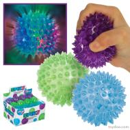 TOYSMITH: FLASHING SPIKY BALL (GREEN, PURPLE, BLUE)