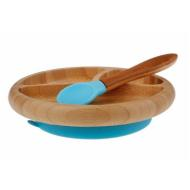 Avanchy Bamboo Suction Plate w/ Spoon