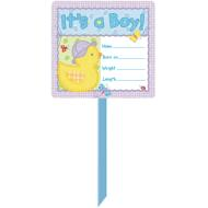 Yard Sign-Its A Boy-Personalized-14'' x 25''