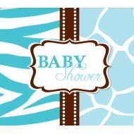 Invitations-Wild Safari Blue-8pkg