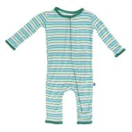 Boy Tropical Stripe Fitted Coverall
