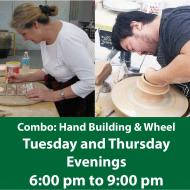 Combo Class: Hand Building and Wheel Throwing - Evenings - Tuesdays and Thursdays
