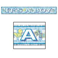 Fringe Banner-Metallic-It's a Boy-1pkg-5ft