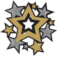 Cutouts - Hollywood- assorted stars-30pk