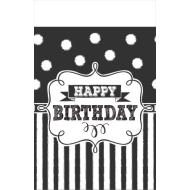 Table Cover - Chalkboard Bday (54 in x 102 in)