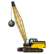 Jointed Cutout-Crane with Wrecking Ball-1pkg-3.2ft